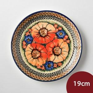 波蘭陶 滿城絕艷系列 圓形餐盤 19cm 波蘭手工製