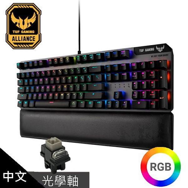 【ASUS 華碩】TUF Gaming K7 RGB 光學機械軸電競鍵盤