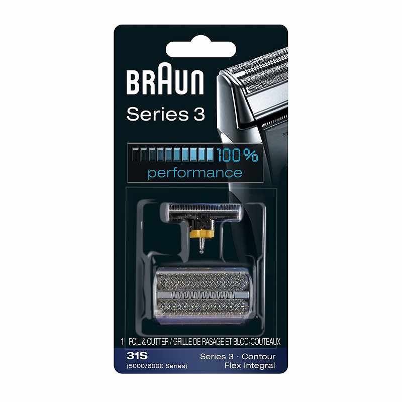 Braun Series 3 31S 刮鬍刀 替換刀頭 兼容舊款Series 3/ Contour/ Flex XP/ Flex [2美國直購]