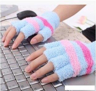 usb暖手套 冬天電熱保暖手套USB充電寶發熱手套半指手套插電加熱手套露指