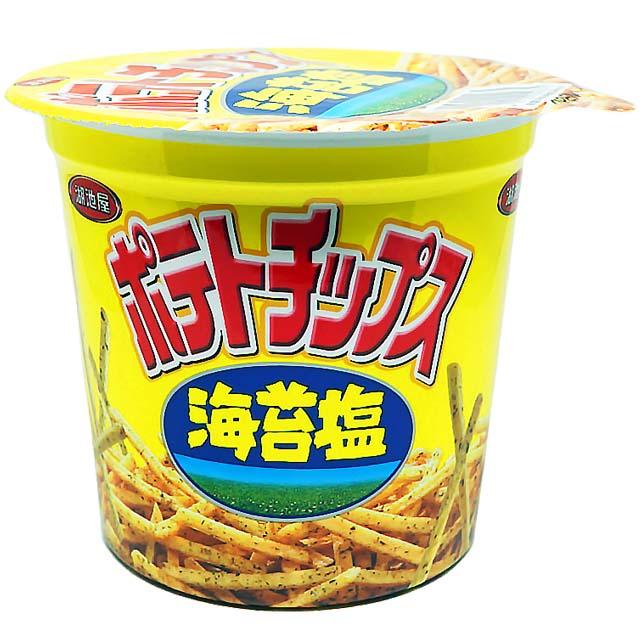 【湖池屋】洋芋條杯-海苔鹽口味-64g/杯