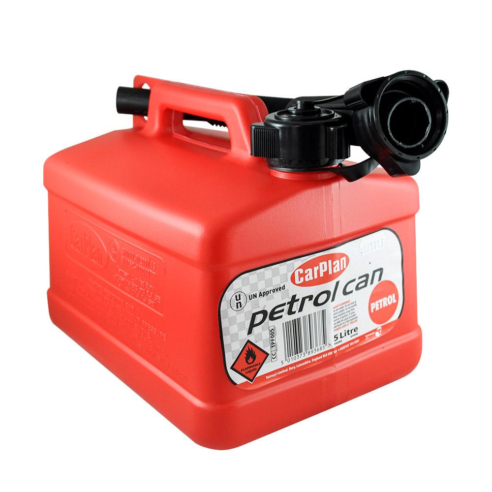 Carplan卡派爾 攜帶式塑膠汽油桶5L(紅)
