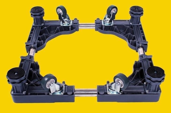 海爾專用不銹鋼洗衣機底座移動滾筒架子底架加高波輪伸縮支架托架 js66558號店WJ