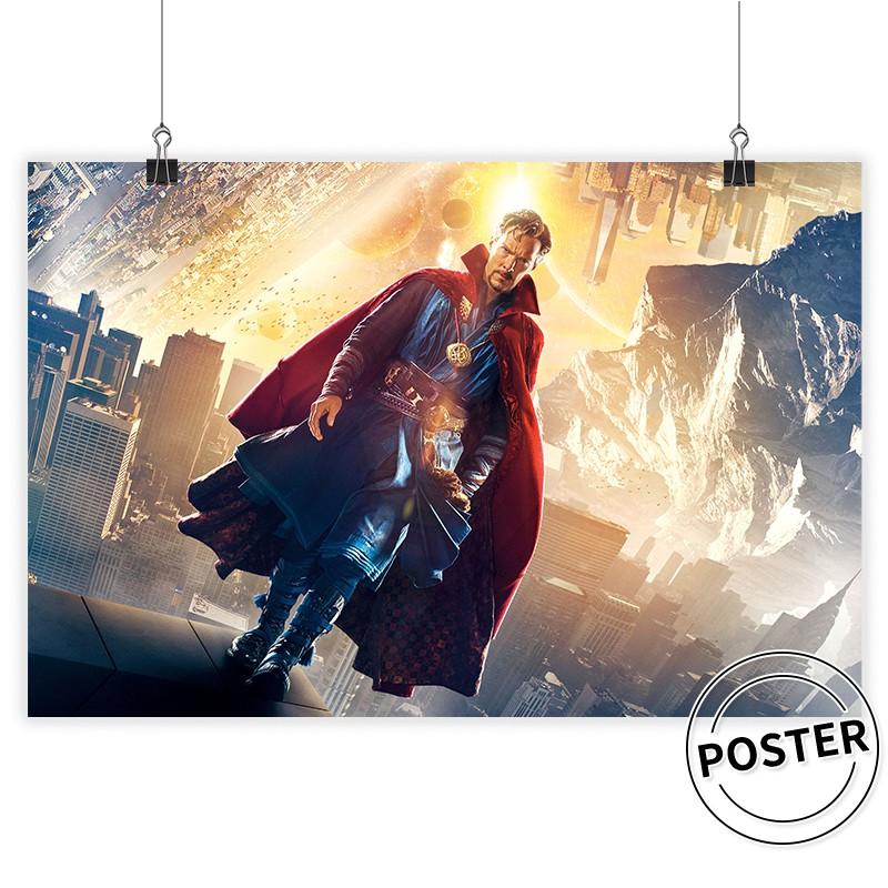 鋼鐵人海報 漫威DC英雄海報 蜘蛛人海報 綠巨人 男生臥室宿舍壁貼 房間墻貼 復仇者聯盟窗貼 多款可選 背膠海報 現貨