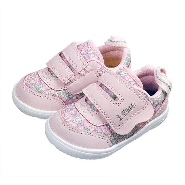 日本 IFME light輕量系列-碎花粉紅童鞋/運動鞋(12.5-14.5)