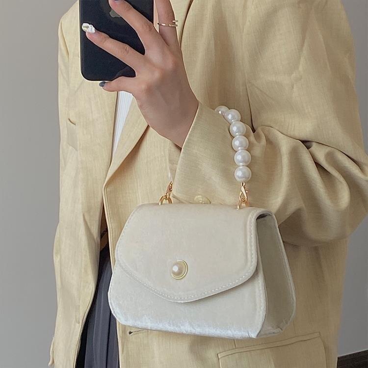 手提包 手提小方包女秋冬新款絨面鏈條晚宴包斜挎單肩包 創時代 新年春節 送禮