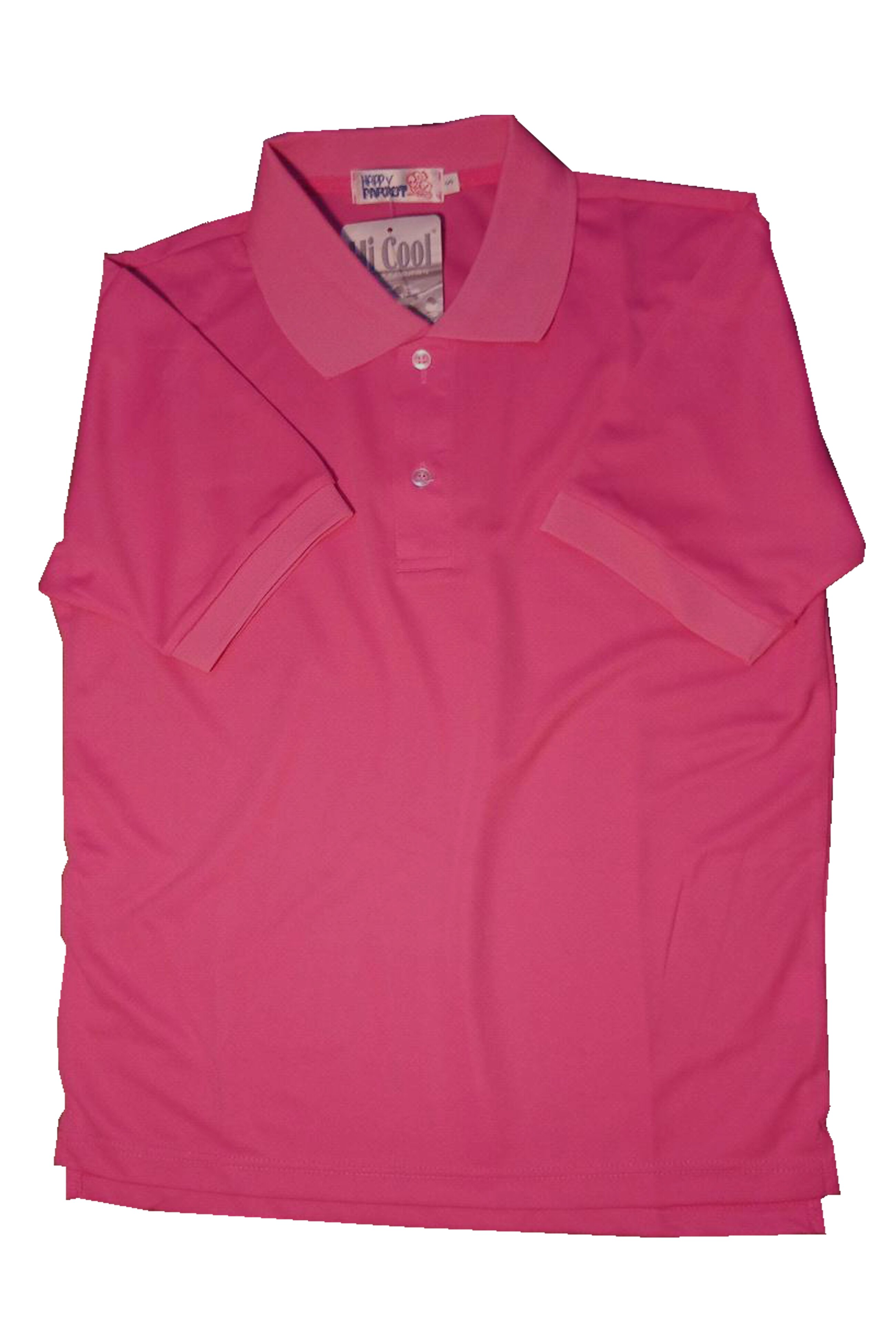 HI-Cool Polo shirts 台灣製作中空紗吸濕排汗Polo衫-玫紅色,團體服可以專業訂製