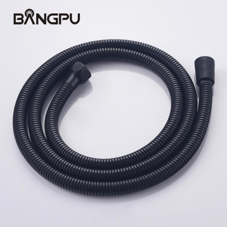 黑色加長不銹鋼伸縮花灑軟管 淋浴管1.5米軟管手持花灑軟管防纏繞 八號店WJ