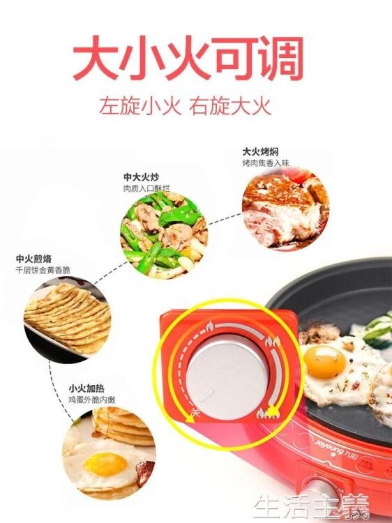 電餅鐺 九陽電餅鐺家用加深加大款電餅檔雙面加熱烙餅機稱電煎餅煎鍋單面 Fashion家居館