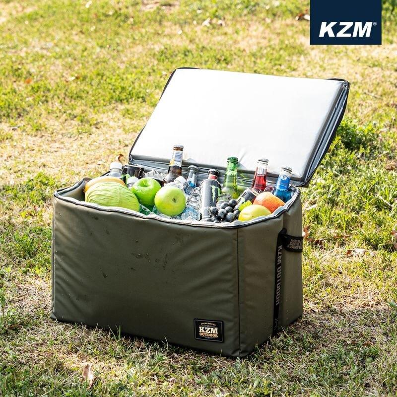 【露營趣】新店桃園 KAZMI K20T3K008 素面個性保冷袋 45L 軍綠色 保冷袋 冰桶 保冰袋 保溫袋 野餐袋 露營