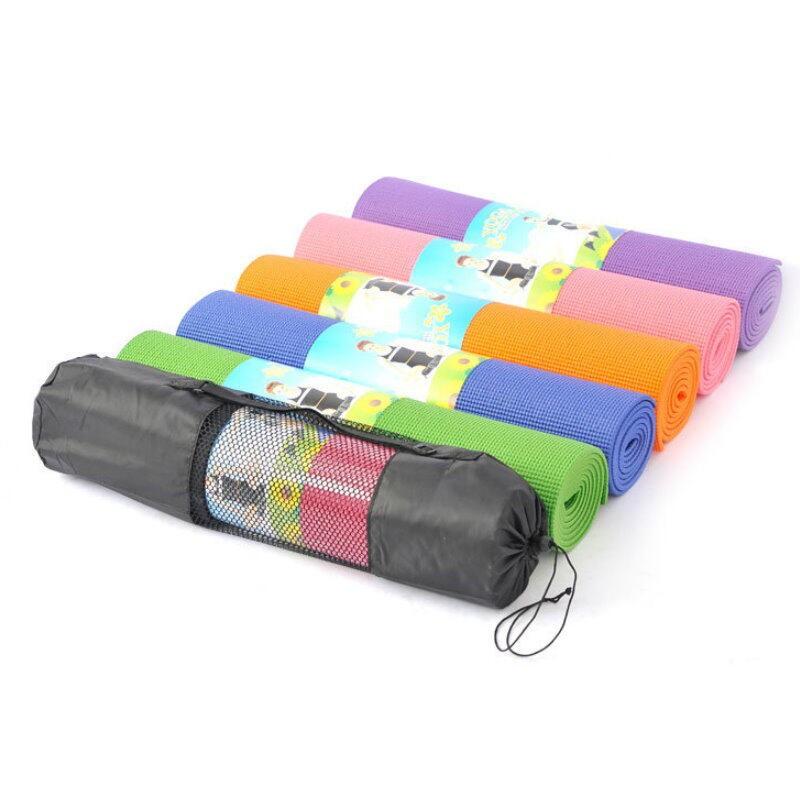 加厚瑜珈墊6mm 運動墊 防滑墊 附瑜珈背袋 收納袋172x60x0.6(限宅)【DO160】