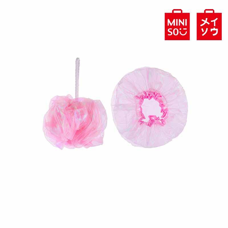 【MINISO名創優品】光合作用幻彩紗沐浴套裝,粉