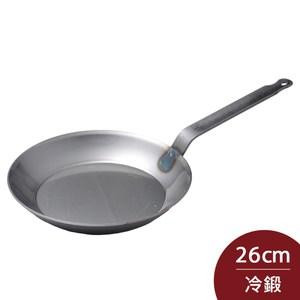Turk 土克 專業版 冷鍛單柄平底碳鋼鐵鍋 26cm 66226 德國製