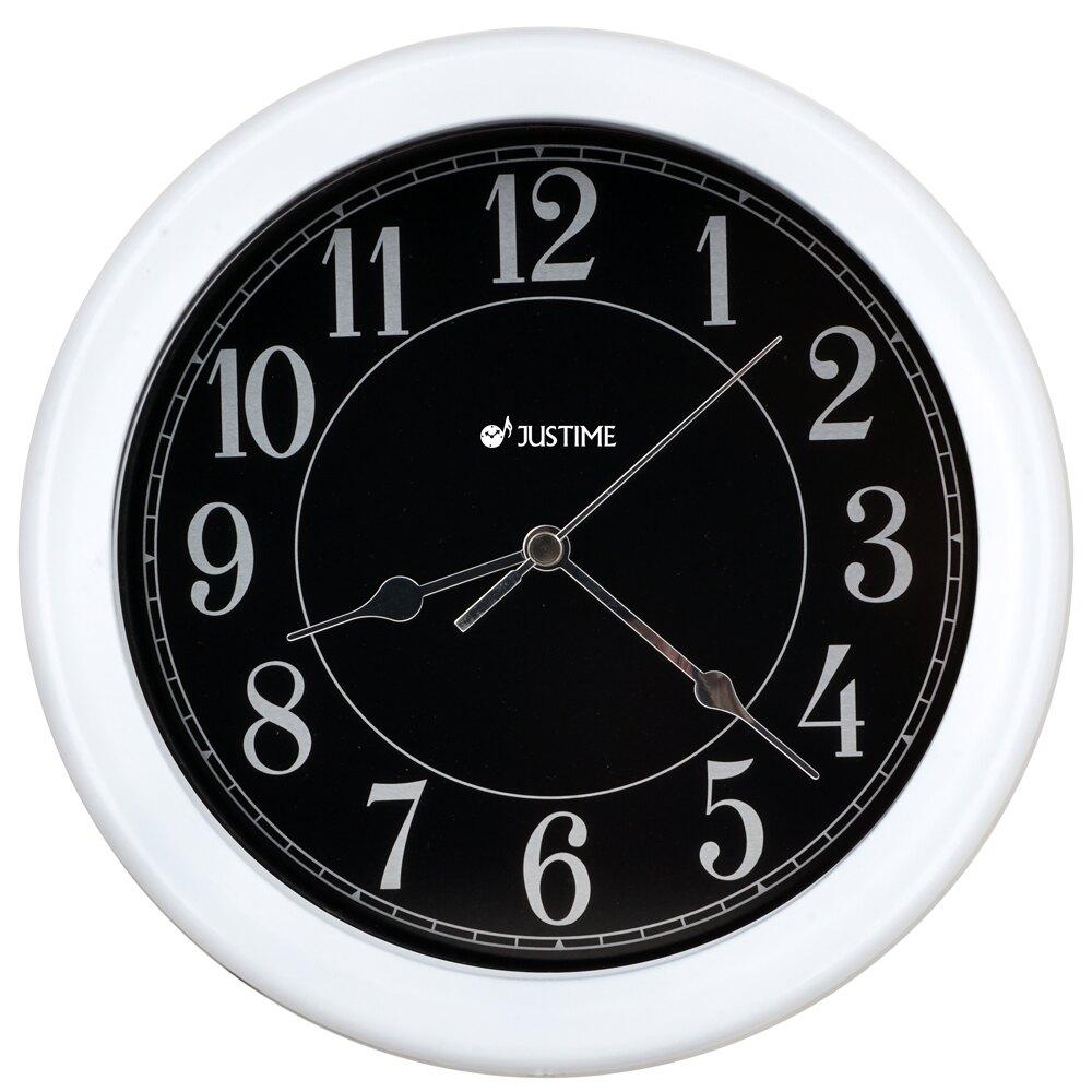 【鐘情坊 JUSTIME】 8.5吋防塵防水金屬掛鐘  台灣製 多色款 易讀 客廳 臥室 廚房 旅行車 巴士優選壁鐘時鐘