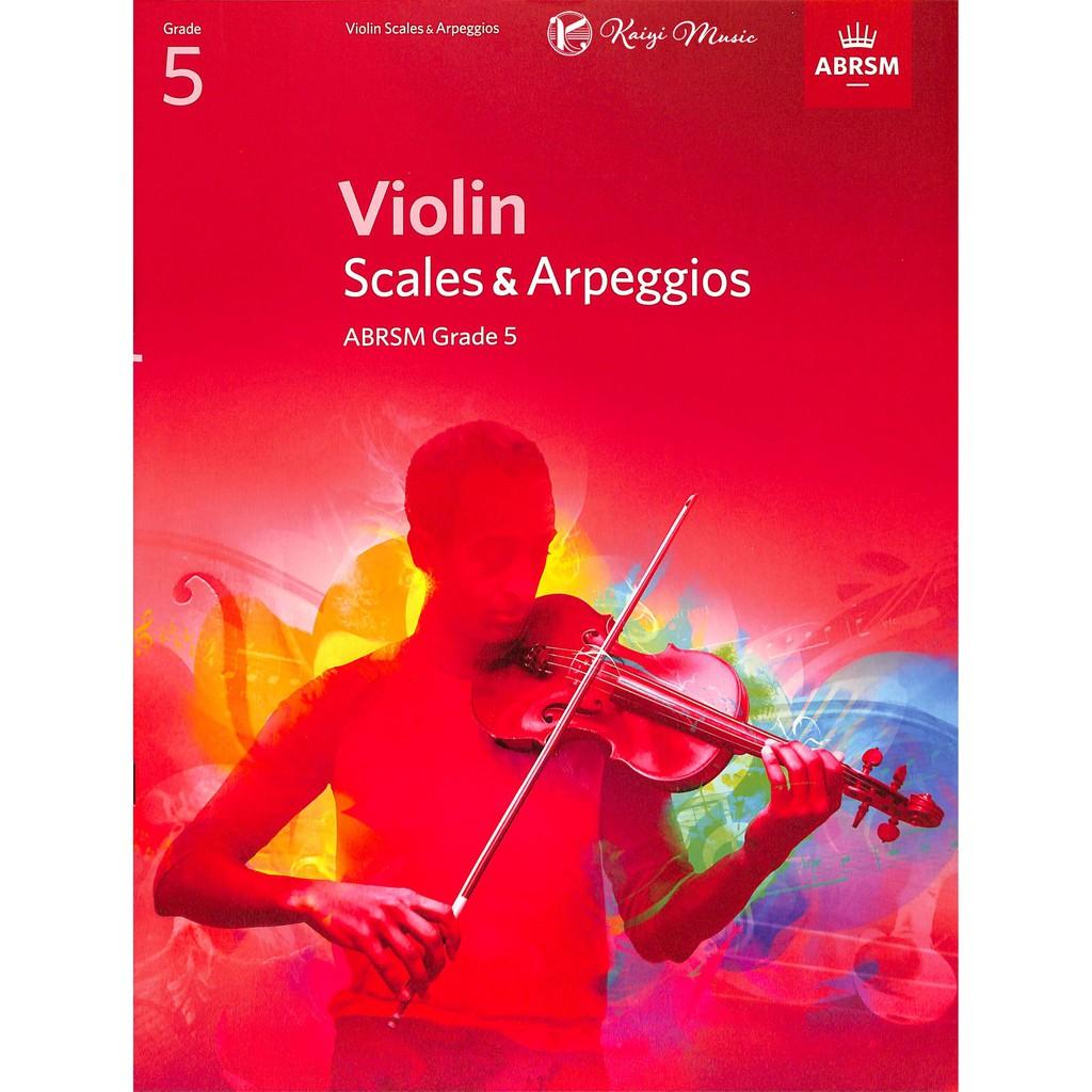 【KaiyiMusic】英國皇家小提琴音階與琶音第5級 Violin Scales&Arpeggios Grade 5