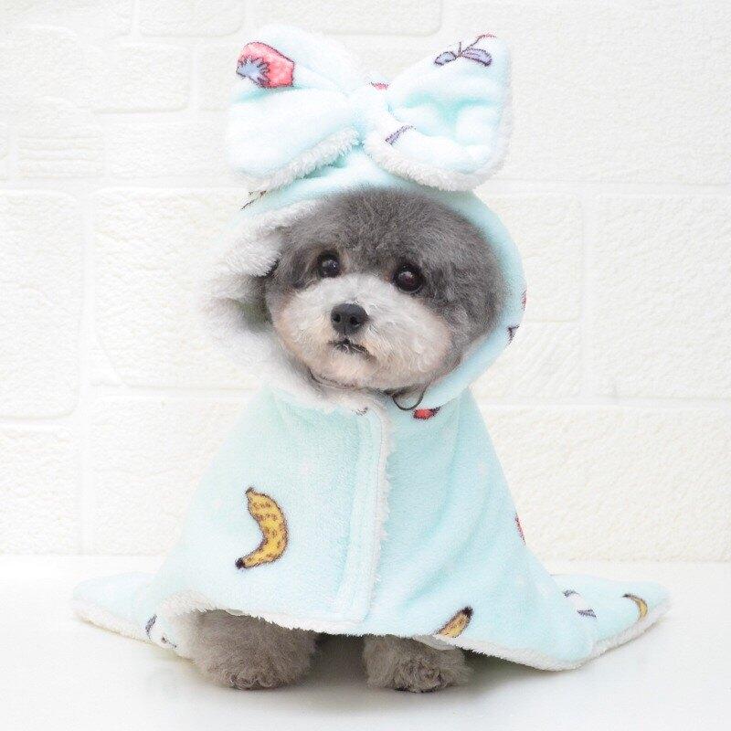 寵物睡袍毛毯 寵物披風睡袍泰迪狗狗睡衣睡袋蓋毯被子加絨家居服秋冬厚保暖用品【xy6318】