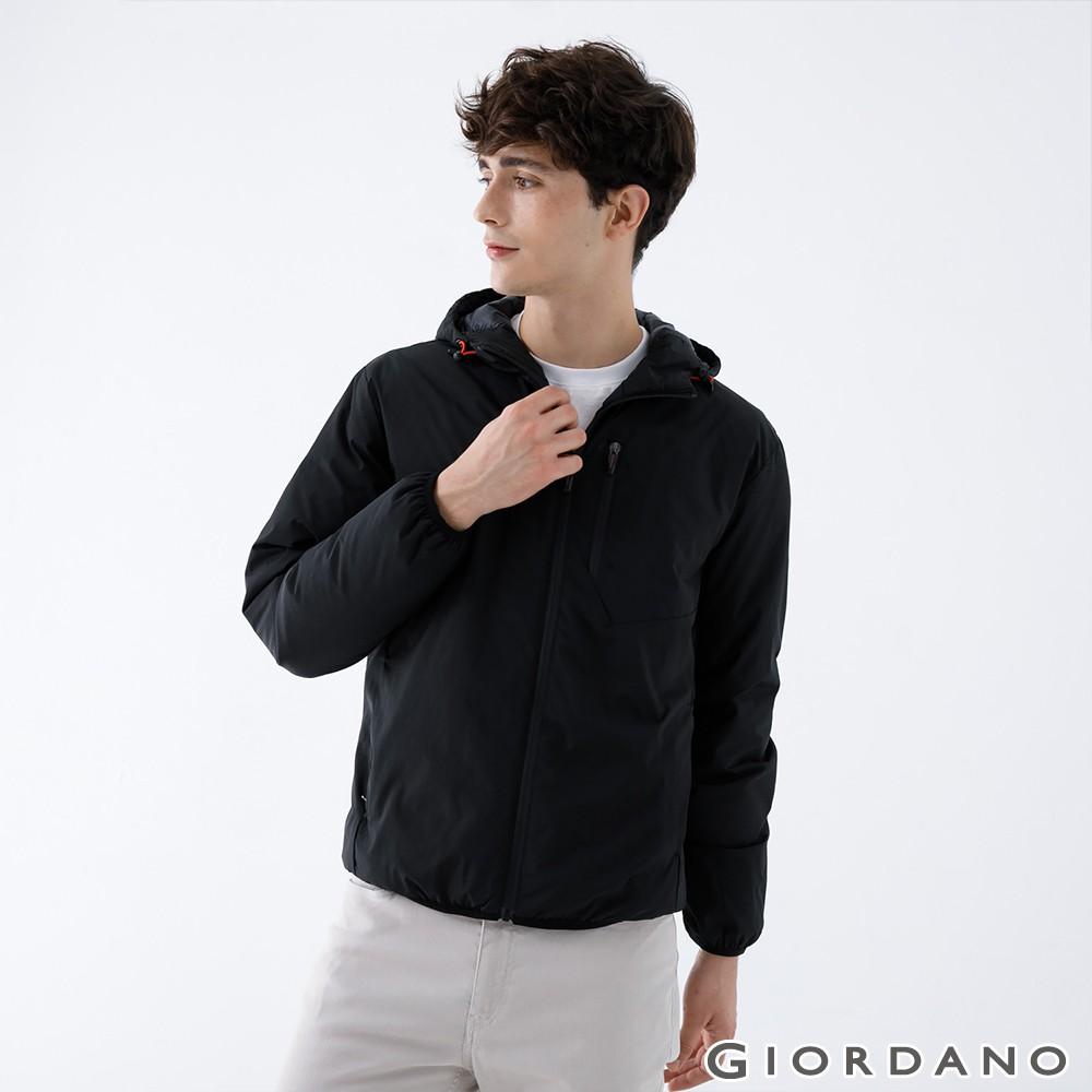 GIORDANO 男裝輕羽絨連帽外套(四色任選) 01070624