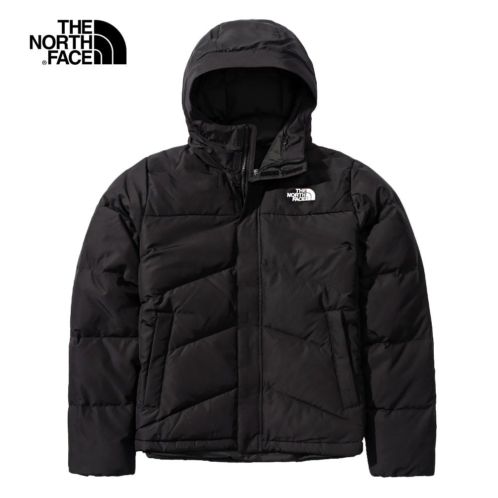The North Face北面男款黑色防風防潑水連帽羽絨外套|4NENJK3