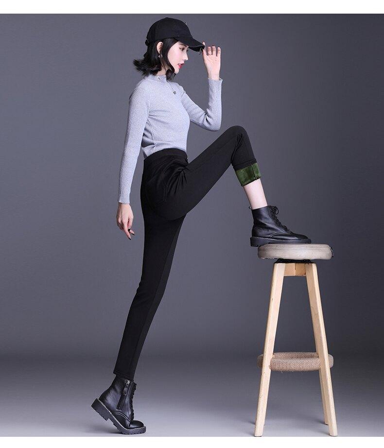 享瘦衣舍中大尺碼【B12223】塑型顯瘦百搭鉛筆褲