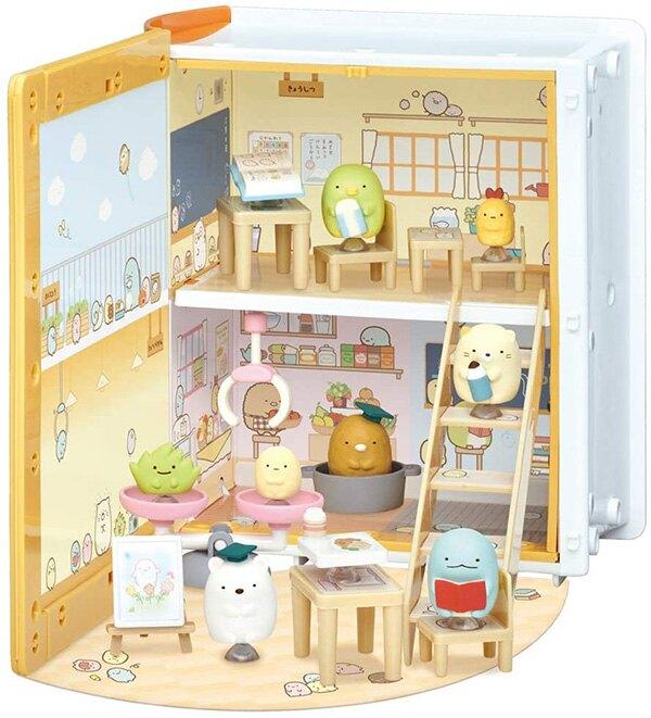 【角落生物 學校公仔玩具組】角落生物 學校 公仔遊戲玩具組 書本 角落小夥伴 日本正品 該該貝比日本精品