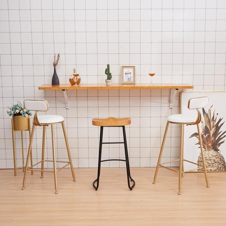 牆上吧台實木隔板長條家用書桌椅組合壁掛置物架掛牆摺疊吃飯桌 創時代 新年春節 送禮