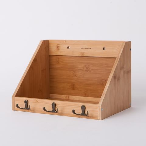 竹意壁掛三鉤收納盒