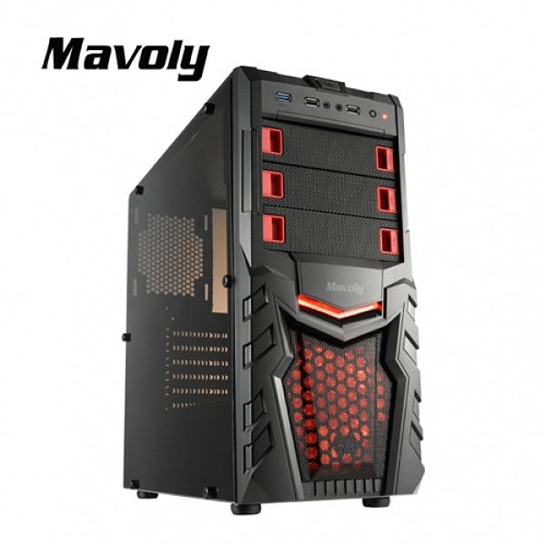 【Mavoly 松聖】柳橙 USB3.0 透明面板機殼