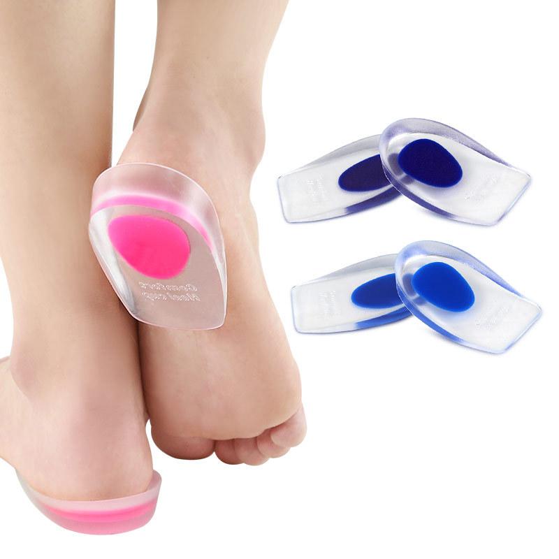 GEL足跟墊透明運動減震內增高鞋墊U型腳跟墊半碼後跟墊