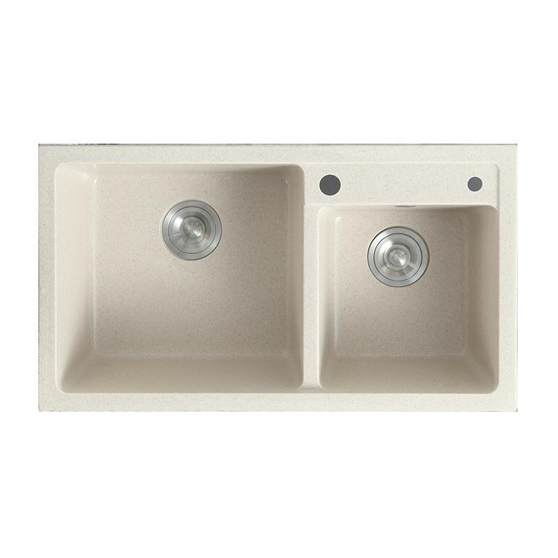意大利石英石水槽洗菜盆雙槽廚房水池洗碗池