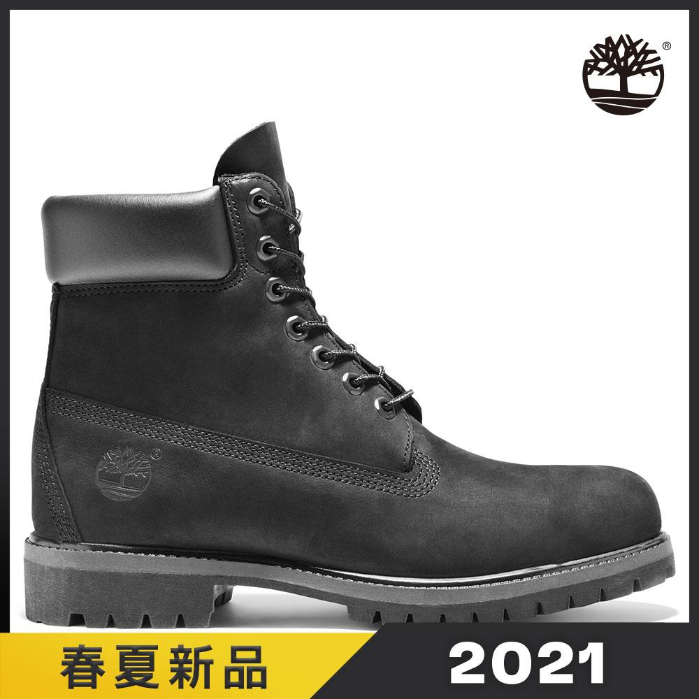 Timberland 男款黑色磨砂革防潑水六吋靴|10073001