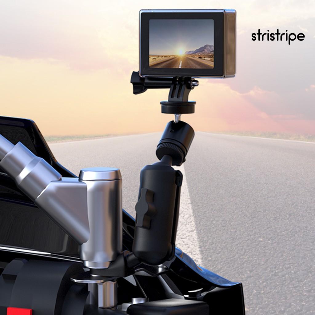 Str 360 度摩托車電動車後視鏡座相機電話騎行支架
