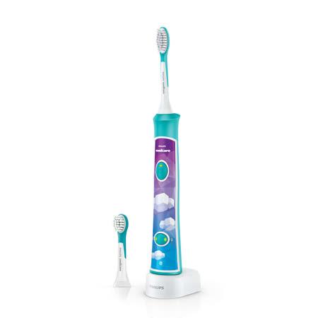 【Philips 飛利浦】Sonicare新一代兒童音波震動牙刷/電動牙刷 HX6322