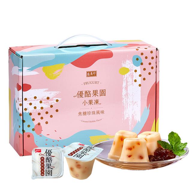 《盛香珍》優酪果園小果凍量販盒-焦糖珍珠風味1500g/盒