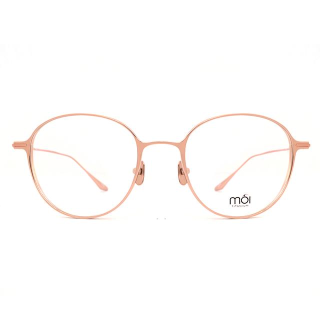 moi取意法語中的意涵-自我 / 純鈦光學眼鏡(玫瑰金) T002_01