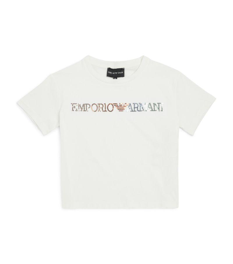 Emporio Armani Kids Sequin Logo T-Shirt (4-14 Years)