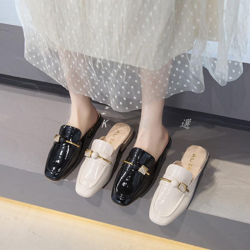 【小 K K優選】穆勒鞋 包頭半拖鞋女2020春季新款粗跟懶人鞋網紅涼拖鞋女夏外穿穆勒單鞋