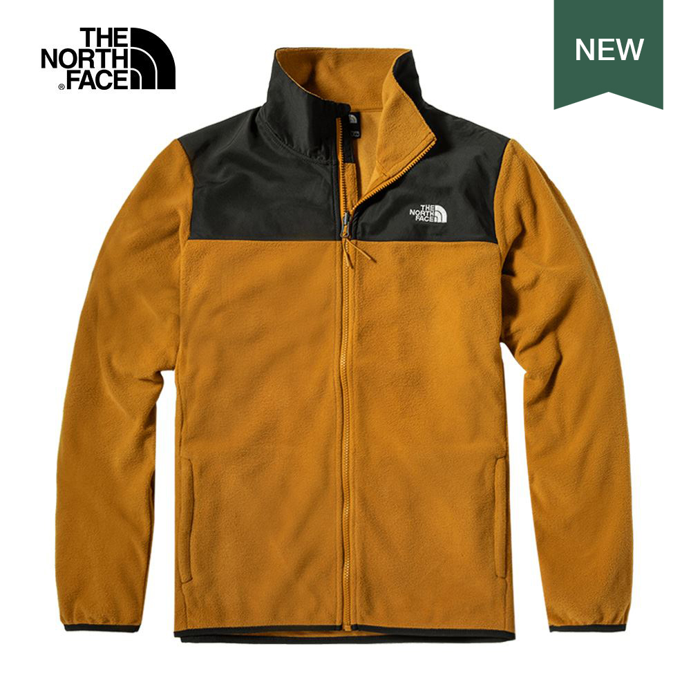 The North Face北面男款棕色保暖抓絨外套|49AEHFQ