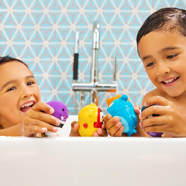 美國 munchkin 噴水洗澡玩具2入-可拆洗(2款可選)