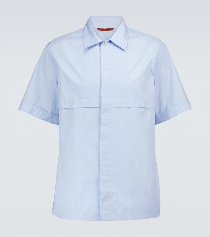Cotton short-sleeved shirt