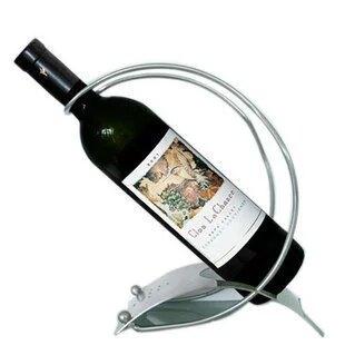 創意不銹鋼紅酒架 雙線紅酒架 法式酒架 葡萄酒架 弧形酒架 1入