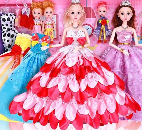 芭比娃娃 芭比洋娃娃套裝大禮盒女孩公主仿真精致大號別墅城堡兒童玩具TW【快速出貨八折下殺】