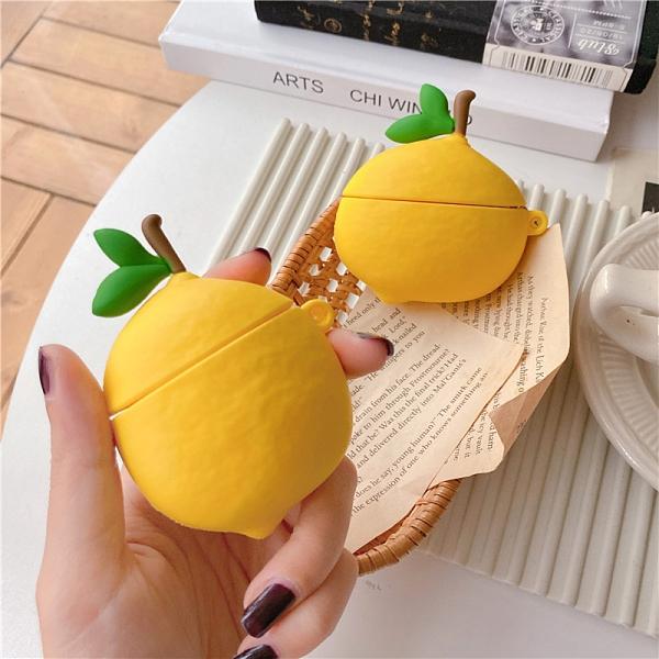 Airpods Pro 專用 1/2代 台灣發貨 [ 可愛大檸檬 ] 藍芽耳機保護套 蘋果無線耳機保護