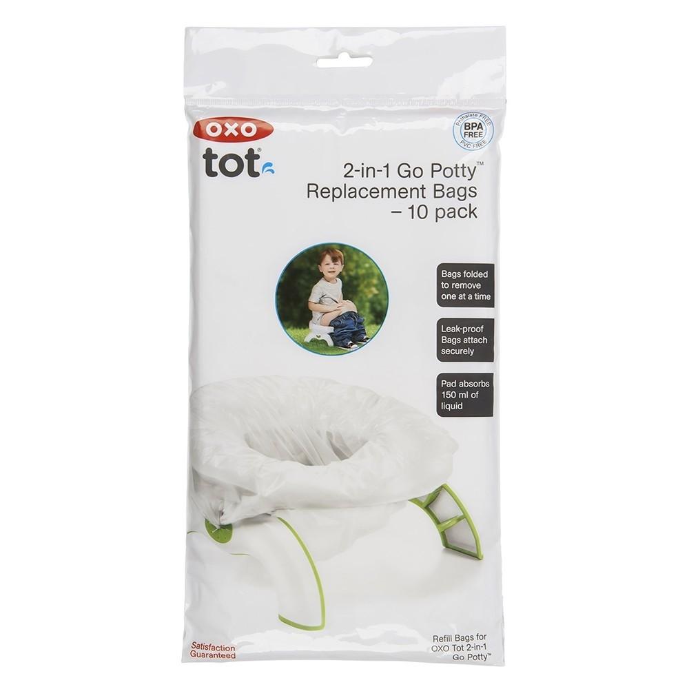 美國 OXO tot 隨行兩用小馬桶-清潔袋(10入)