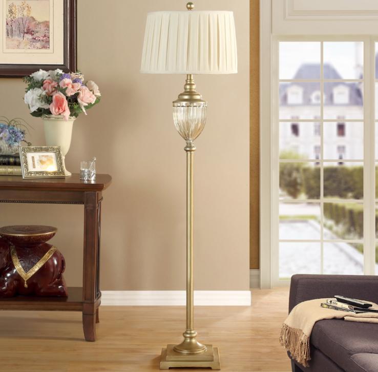 110v 燈 燈具 調光開關書房燈 歐式燈具 輕奢落地燈 高檔客廳立地燈美式復古典溫馨房間臥室床頭燈