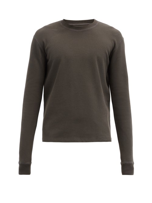 Bottega Veneta - Cotton-blend Waffle-jersey Sweatshirt - Mens - Green