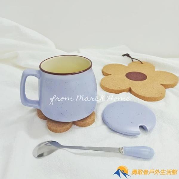 馬卡龍撞色早餐杯大容量可愛陶瓷水杯馬克杯【勇敢者】