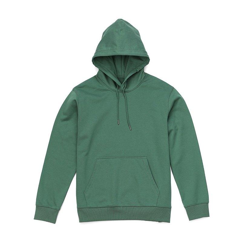 【女人節新品】360g純色帽T果綠色