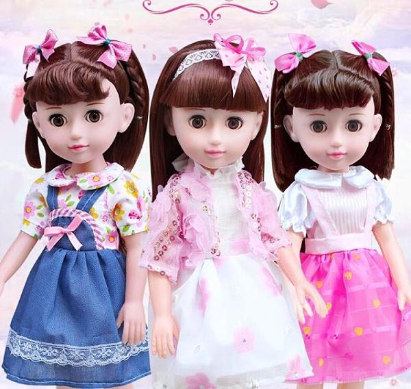 芭比娃娃 會說話的籬芭比比洋娃娃女孩兒童仿真套裝女孩玩具公主單個布TW【快速出貨八折下殺】