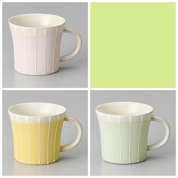 日本陶瓷 【美濃燒】一珍十草 馬克杯 粉紅/粉綠/粉黃 三色
