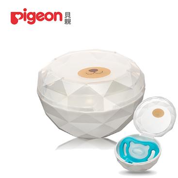 日本 Pigeon 貝親 安撫奶嘴收納盒(閃鑽熊)